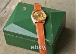 1963 Rolex 18k 1601 Datejust Alpha Hands Pie-Pan Dial Vintage Original Rare Box