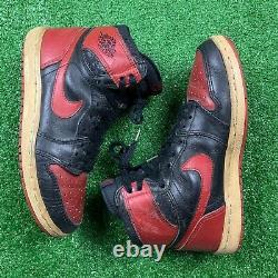 1985 Nike Air Jordan 1 Black Red Bred Sz 8 No Box Rare OG Vintage Chicago One