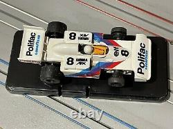 AFX G-Plus F-5000 #8 Polifac Faller box RARE VINTAGE HO SLOT CAR
