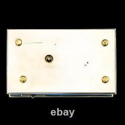 ANTIQUE 20thC RARE FRENCH SOLID SILVER-GILT & ENAMEL BIRD AUTOMATON BOX c. 1910