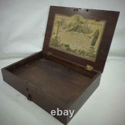 ANTIQUE REEVES + INWOOD WATERCOLOUR ARTISTS PAINT BOX INLAID c1790 very RARE