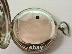 Antique 1846 London Fusee Solid Silver Pocket Watch Working Box Rare