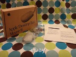 Apple Desktop Bus Mouse II ADB Beige New Factory Box Vintage Rare Mac M2706LL/A