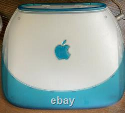 Apple iBook Clamshell G3 Blueberry In Box Mac OS 9 Rare Vintage