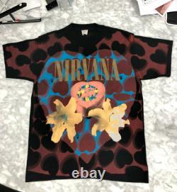 Authentic Vintage 1993 Nirvana Heart Shaped Box T-shirt Size Large Ultra Rare