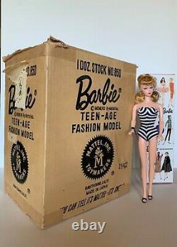 Barbie #1 Shipping Box Mattel 1958 Vintage RARE