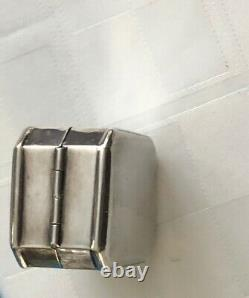 Birks Sterling Silver 925 Vintage Engraved Ring Box 1.5 Rare