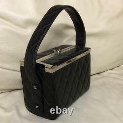 Chanel Vanity Hand Shoulder Box Bag Rare Vintage