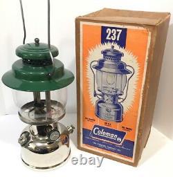 Coleman 237 Empire Lantern 11/67 w Original Box Kerosene Rare Vintage Camping