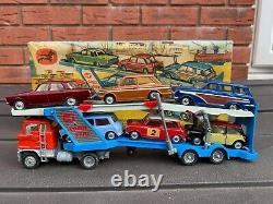 Corgi Gift Set 41 Car Transporter Set In Its Original Box Excellent Rare