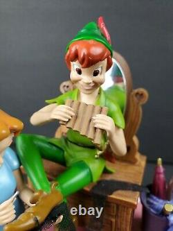 Disney Peter Pan Shadow Music Box Vintage Wendy Tinkerbell You Can Fly RARE HTF