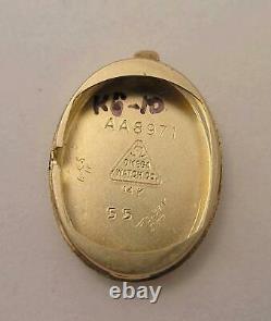 Elegant 14 K Solid Gold Omega Deville Rare Vintage C. 1968 Bracelet Watch w Box