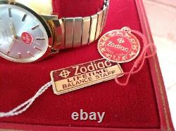 Excellent NOS Vintage Zodiac Hermetic Dr. Pepper Ultra Rare Mens Watch with Boxes