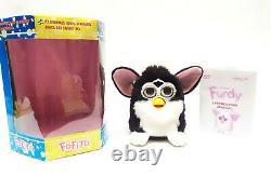 Furby fake FURDY knockoff furby FOFITO black and white BOXED Vtg EXTREMELLY RARE
