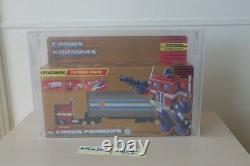 G1 Transformers AFA80 Gold Box Optimus Prime Vintage RARE MISB