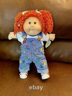 HTF Vintage Cabbage Patch Kids #30 Red Popcorn with RARE Dinosaur Overalls in Box