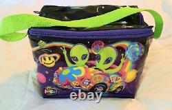 Lisa Frank vintage zoomer and zorbit aliens RARE puffy lunch bag lunch box
