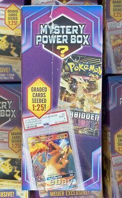 NEW Pokemon Mystery Power Box Rare Meijer Graded Cards 125 Vintage Packs 110