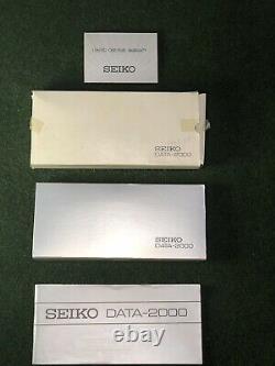 NEW RARE Vintage 1984 NOS SEIKO DATA-2000 LCD wrist computer calculator watch