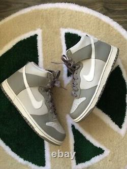Nike 2008 Dunk High Neutral Grey Size 10.5 OG Box Rare Vintage Great Condition