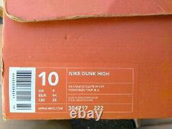 Nike Dunk Hi 2002 Maple Hay White Sz 10 Box Vg 7/10 Rare Clean Htf Vtg