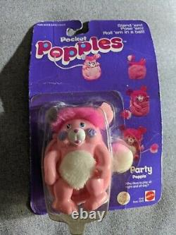 POPPLES pocket mini, Party Popple #1245 MATTEL 1986 Vtg Rare In Box