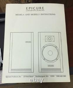 Pair of Vintage Epicure Model 5v 5 Book Shelf Speakers Rare Sealed in Box