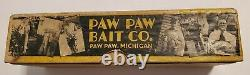 Paw Paw Trout Color Fish Spearing Decoy in RARE larger YellowithBlack Box