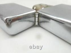RARE 1940s Vintage 3 Barrel Hinge Nickel Silver ZIPPO Cigarette Lighter in BOX