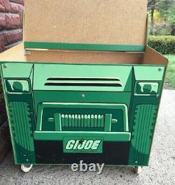 RARE 1983 HASBRO GI Joe Army Jeep Toy Box American Furniture Company Toybox VTG