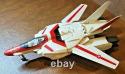 RARE 1985 Vintage Hasbro G1 Transformers Jetfire Robot wMacross & damaged box