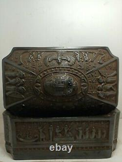 RARE ANTIQUE ANCIENT EGYPTIAN Jewelry Box Scarab Goddess Isis Sphinx 1845 Bc