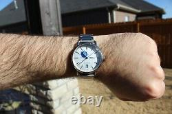 RARE Seiko Spirit Smart SCVE005 Blue Automatic Watch Great Condition with Box