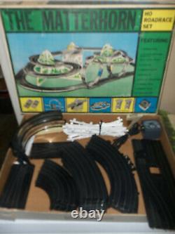 RARE Vintage Marx The Matterhorn HO Roadrace Electric Slot Racing Set in Org Box