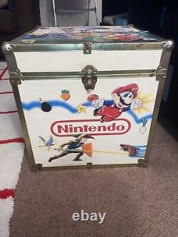 RARE Vintage Nintendo Super Mario Zelda Box Toy Chest Storage Video Games