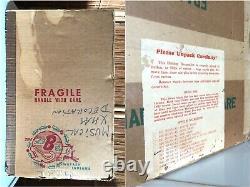 RARE Vintage PINK REINDEER Carousel MCM Mid-Century CHRISTMAS Decor MUSIC BOX