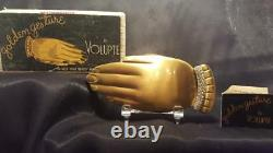 Rare Gold Gesture Hand Compact with Diamond Bracelet By Volupte with ORG. BOX