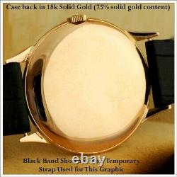 Rare Large 37mm 1946 Omega 30T2PC Cal18k SOLID GOLD Case 2 Tone Dial withBoxes