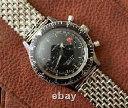 Rare Nivada Croton Chronomaster Vintage Chronograph Watch with Box Valjoux 23