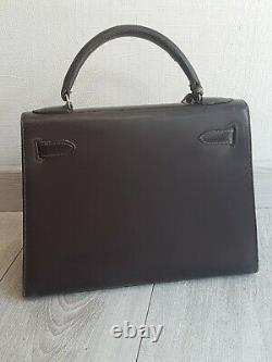 Rare Sac Kelly 28 cm cuir box / Sac HERMÈS KELLY 28 vintage