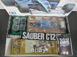 Rare Vintage New in open Box Tamiya 1/10 R/C Sauber C12 F-1 Race Car Kit # 58130