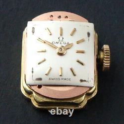 Rare Vintage Omega Solid 18K Gold Lady's Flip Top Bracelet Watch with Original Box