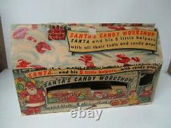 Rare Vintage Rosen Rosbro Sears Christmas SANTA'S CANDY WORKSHOP in Orig Box