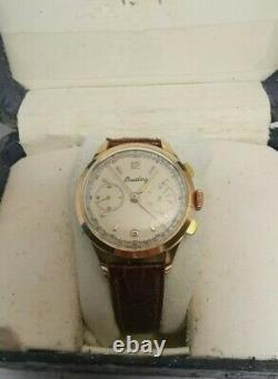 Rare vintage Breitling Chronograph Landeron 48 manual winding men watch with box