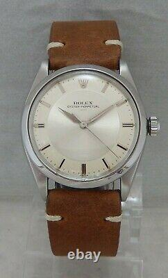 Rolex Oyster Perpetual Ultra Rare Model 5552 Mens Watch Orig Box & Papers 1963