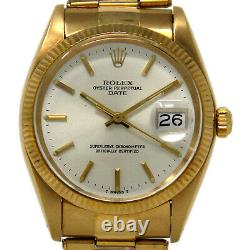 Rolex Rare Oyster Date vintage 1503 automatic 18kt gold box /punched paper #1896