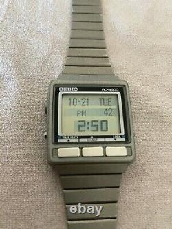 SEIKO RC-4500 Vintage Computer Watch Gray Rare