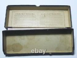 SUPER RARE VINTAGE 1931 1st Year Smith & Wesson K. 22 Outdoorsman Maroon Box