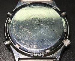 Seiko 7a38-701a Chronograph Quartzuhr mit Box Quartz SQ Vintage Rare