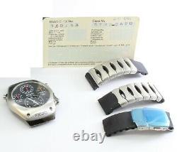 Seiko SLQ003 J1 Rare Kinetic 9T82 Multi-Dial Men's Chronograph Analog Watch
